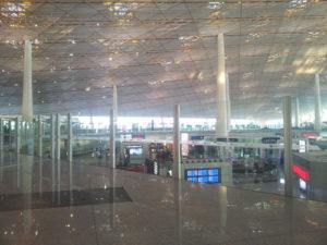 Letisko v Pekingu, prílet do Číny