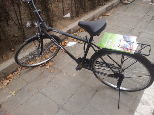 čínsky bicykel, značka Giant, na bicykli po Pekingu, smog, cestný pirát na bicykli