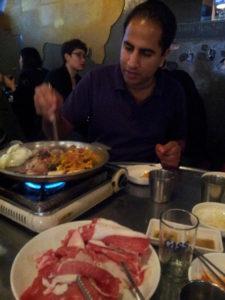 kórejské barbecue, grilovanie po korejsky, Kórea, Soul, cestovanie, kimchi