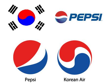 pepsiland, Južná Kórea logo, zástava Južnej Kórei, skúsenosti s Korean Air